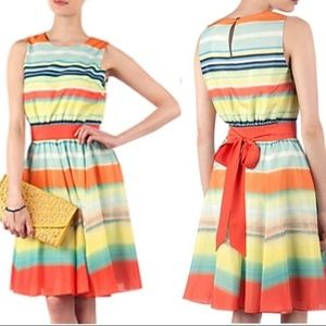 Ted Baker Sunset Stripe Fit & Flare Dress